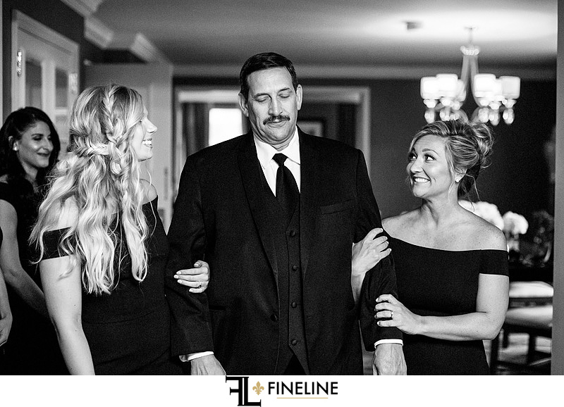 first look father of the bride photo by FINELINE Weddings Greensburg PA