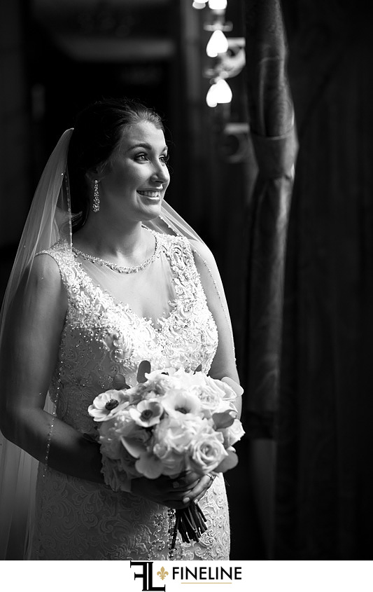 bride and groom photography FINELINE weddings Greensburg PA black and white