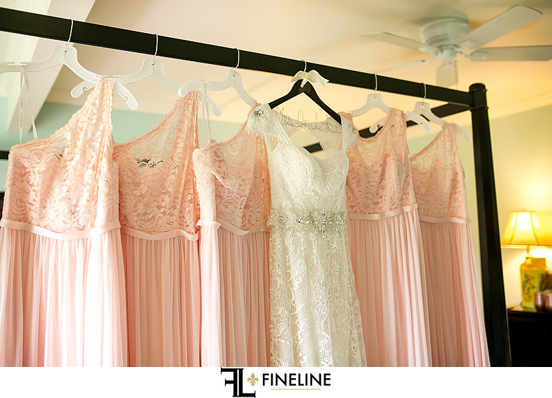 wedding dress with bridesmaid dresses photo by FINELINE weddings Greensburg, PA