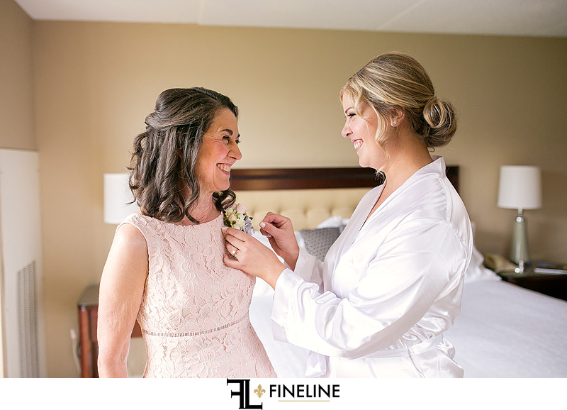 bride with mother photos by FINELINE Weddings Greensburg PA