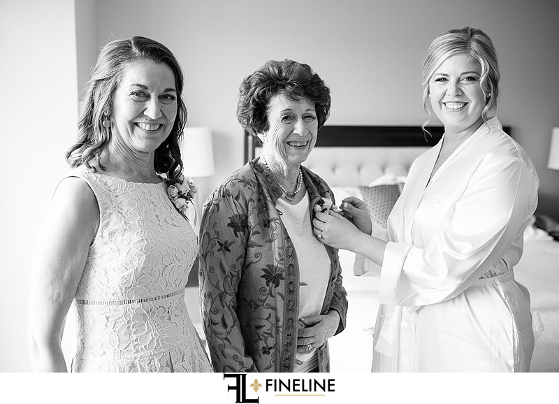 bride with mother and grandmother photos by FINELINE Weddings Greensburg PA