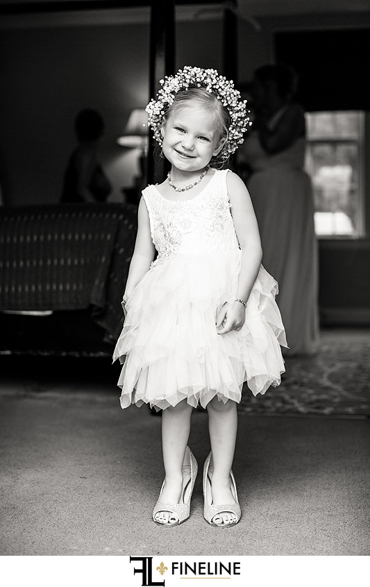 flower girl photo by FINELINE weddings Greensburg, PA