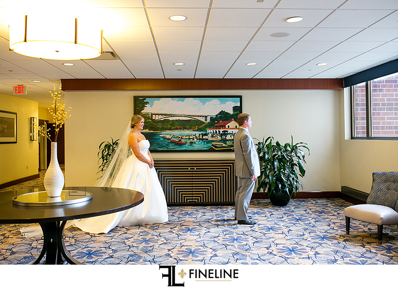 first look photos by FINELINE Weddings Greensburg PA
