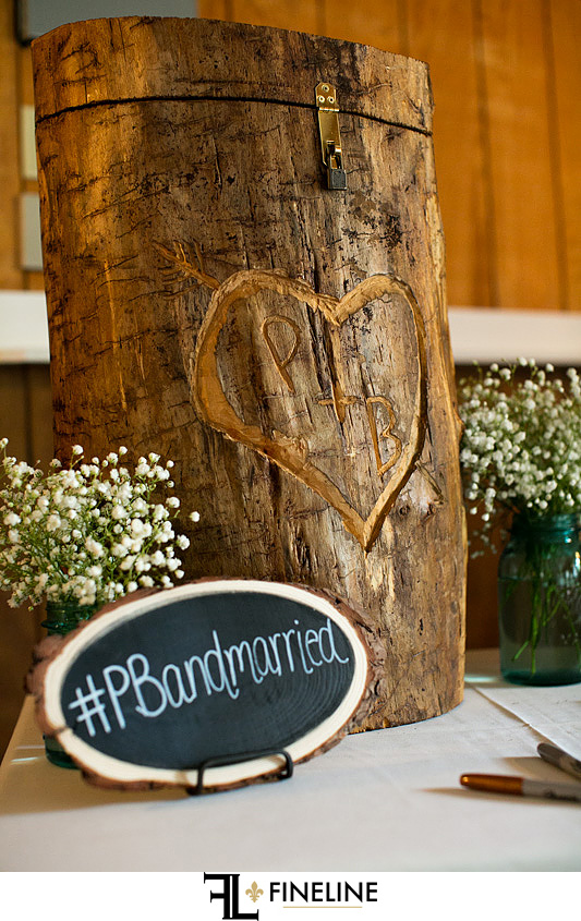 wood accents at wedding