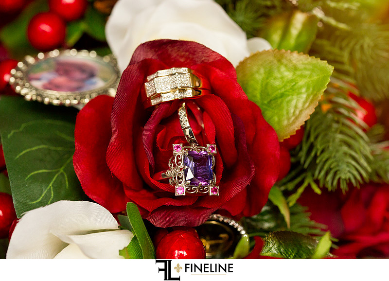 costume jewelry wedding rings photo by FINELINE Weddings Greensburg, PA