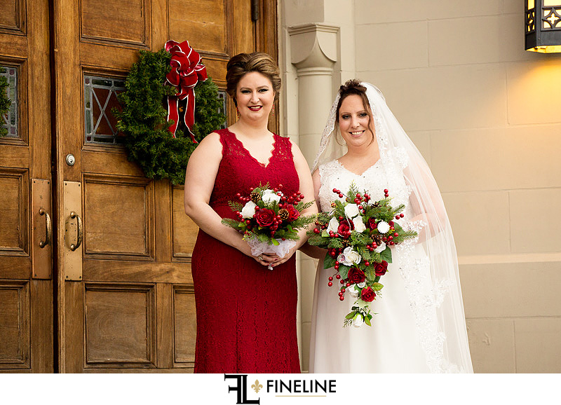 bride and bridesmaid photo by FINELINE Weddings Greensburg, PA