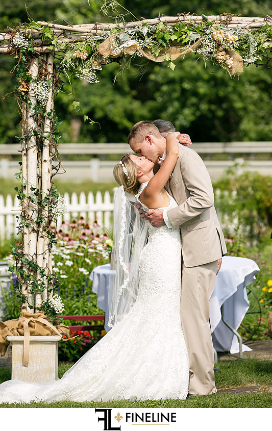 outdoor ceremony west overton barn scottsdale Pa