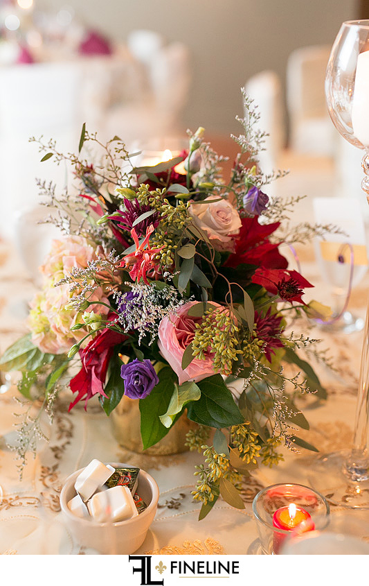burgundy pink purple gold and blue wedding colors