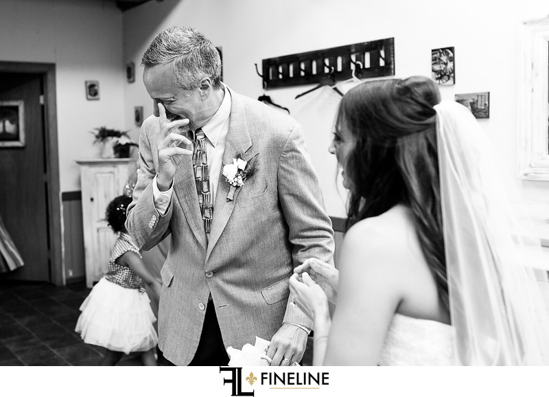 first look father of the bride photo by FINELINE Weddings Greensburg, PA