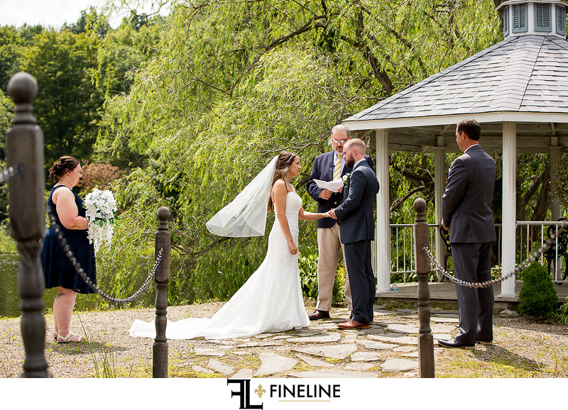 Outdoor ceremony at the Hayloft photo by FINELINE Weddings Greensburg, PA