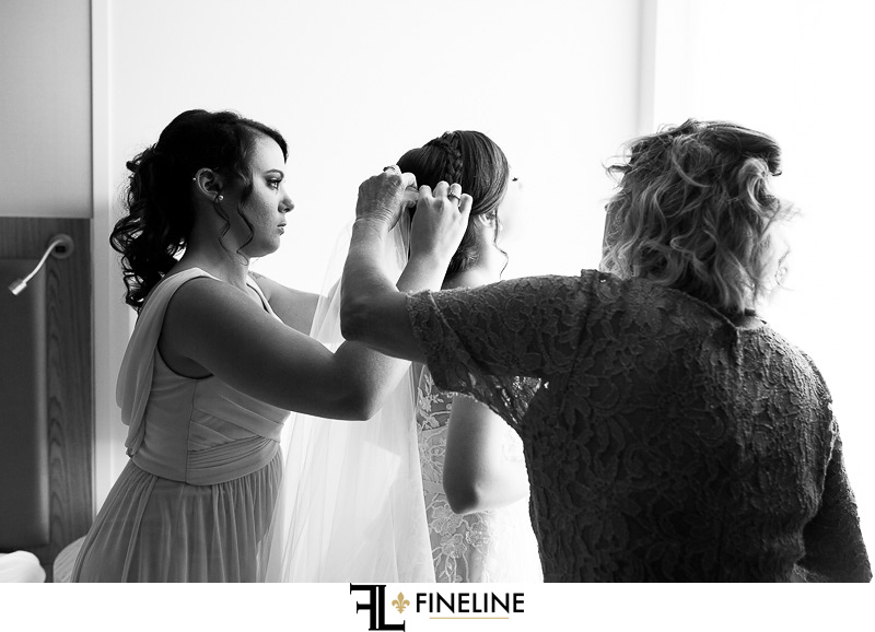 getting ready photo by FINELINE Weddings Greensburg, PA