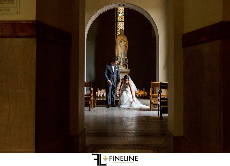 Saint Vincent Basilica Ceremony  photo by FINELINE Weddings Greensburg, PA