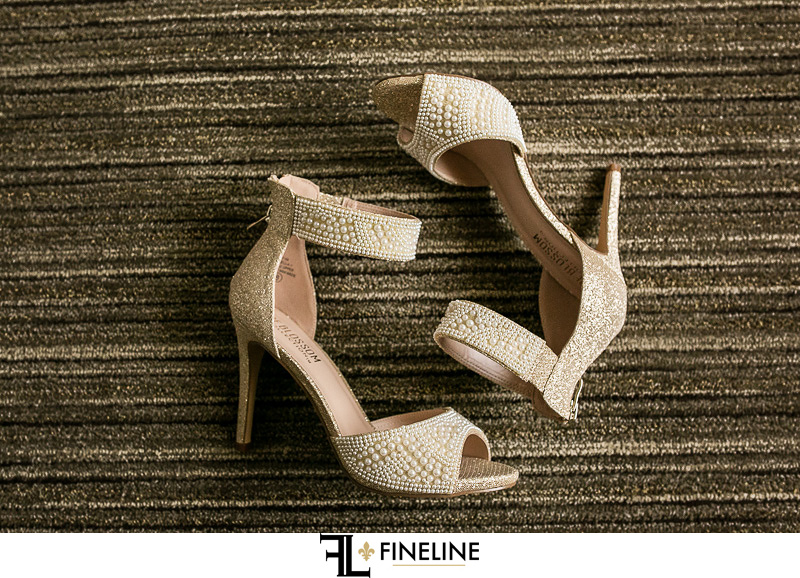 brides heels FINELINE weddings Greensburg PA