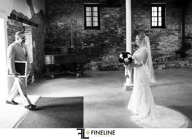 first look FINELINE weddings Greensburg PA