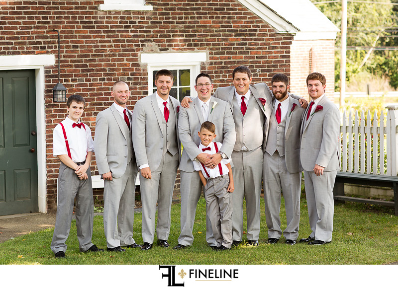 grey and red wedding colors