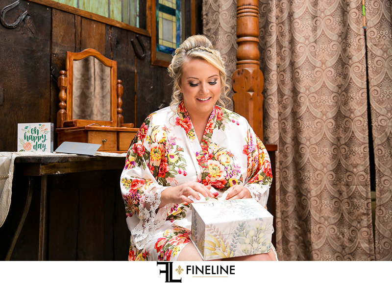floral robe and bridal gift
