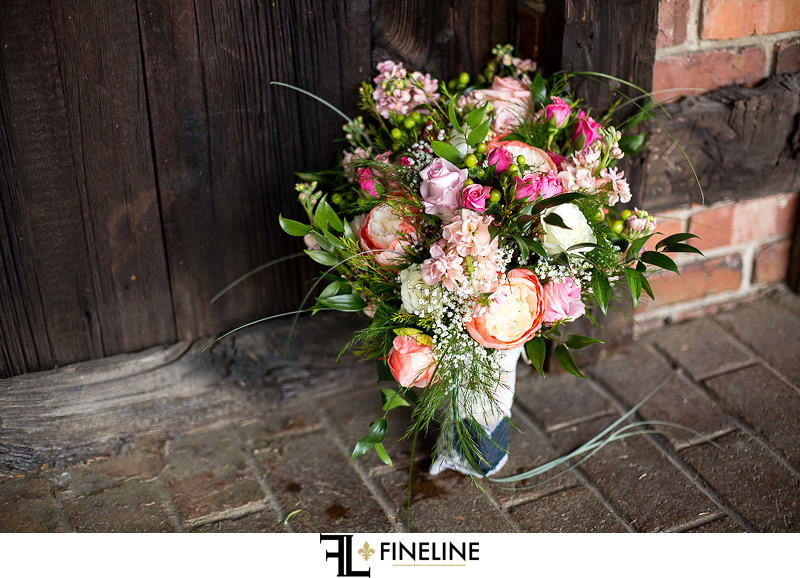 pink floral Barn at Madison Wedding FINELINE weddings Greensburg PA