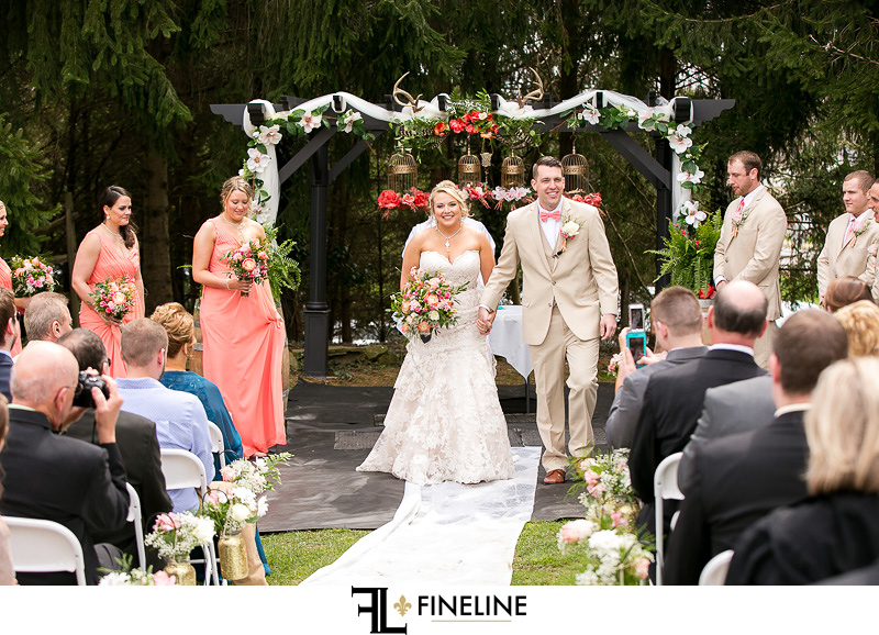 Outdoor ceremony Barn at Madison Wedding FINELINE weddings Greensburg PA