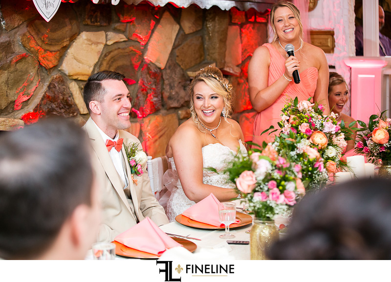 Pink, tan and Gold Barn at Madison Wedding FINELINE weddings Greensburg PA