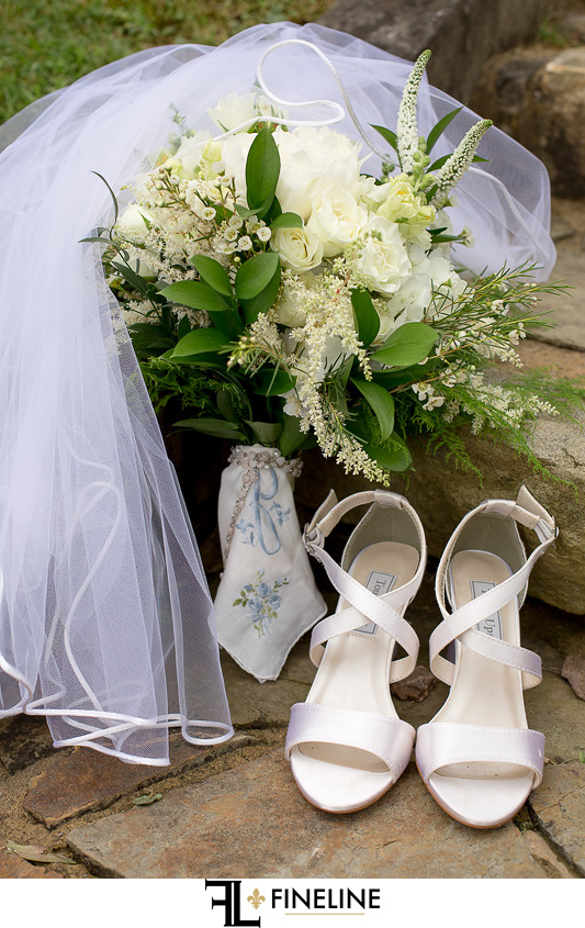 shoes and veil photo by FINELINE Weddings Greensburg PA
