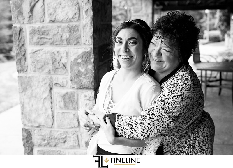 mom and bride photo by FINELINE Weddings Greensburg PA