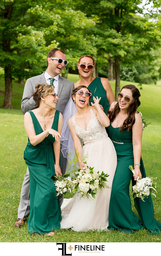 emerald green and white wedding colors photo by FINELINE Weddings Greensburg PA