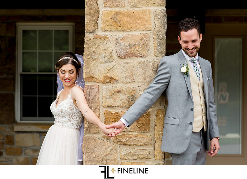 first touch photo by FINELINE Weddings Greensburg PA