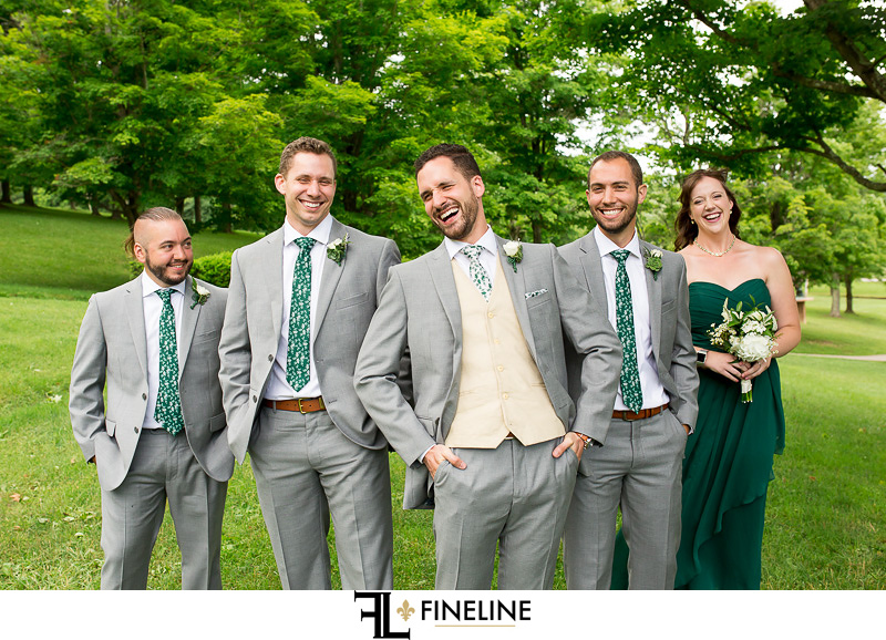 bridal party photo by FINELINE Weddings Greensburg PA