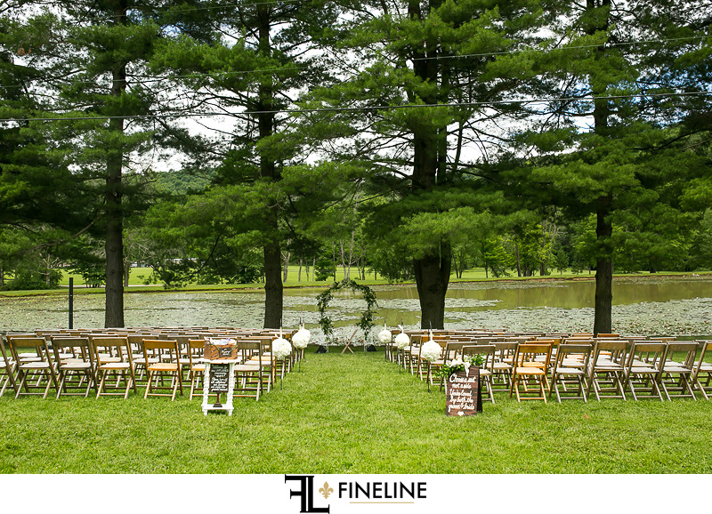 outdoor ceremony photo by FINELINE Weddings Greensburg PA