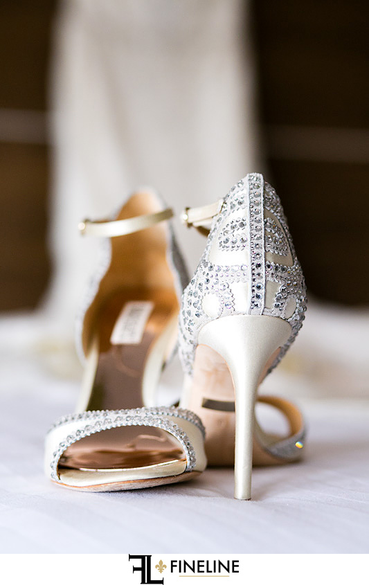 brides wedding heels