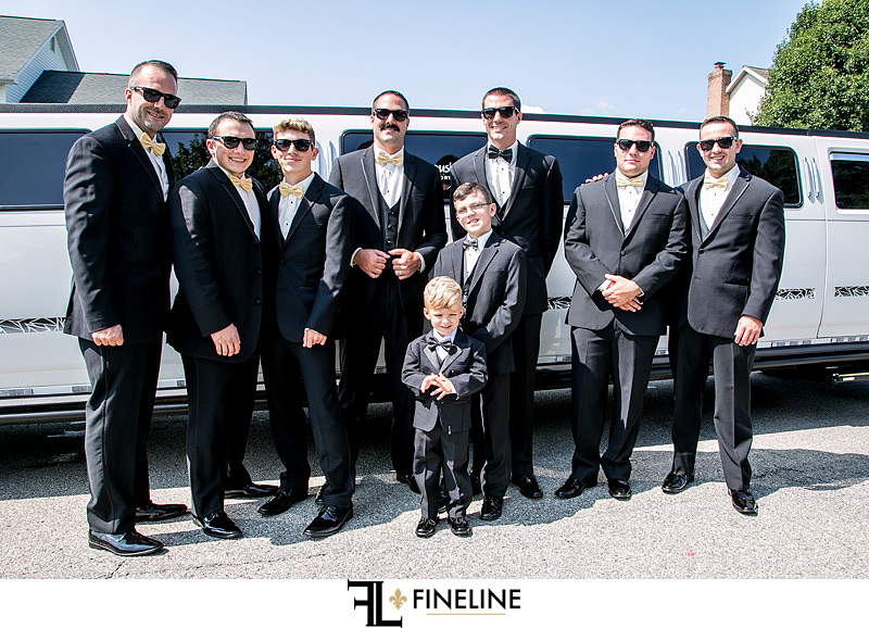 groomsmen FINELINE weddings Greensburg PA