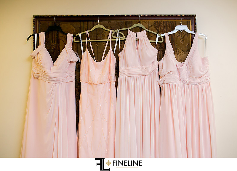pink bridesmaid dresses photo by FINELINE Weddings Greensburg, PA