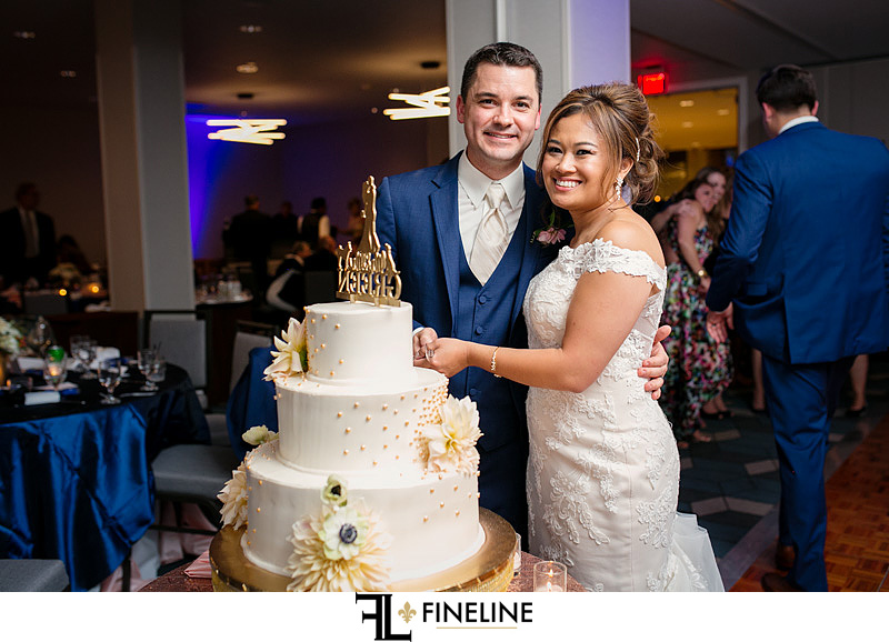 blush blue and gold doubletree downtown Pittsburgh  FINELINE weddings Greensburg PA