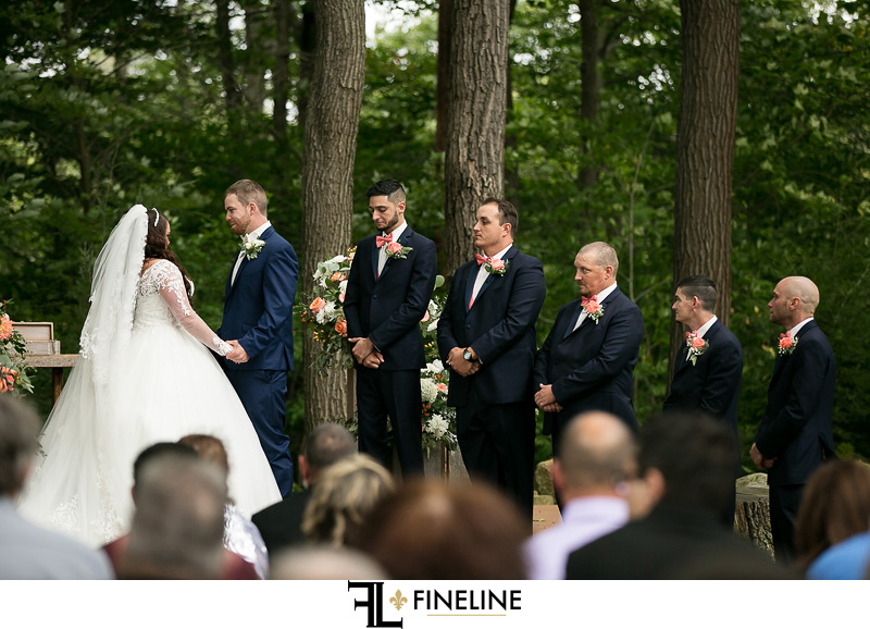 Seven Spring Wedding Ceremony photo by FINELINE Weddings Greensburg, PA