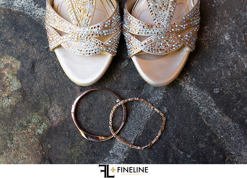 shoes and jewelry Photo by FINELINE Wedding Greensburg, PA
