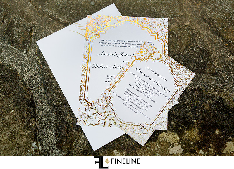 invitation Photo by FINELINE Wedding Greensburg, PA