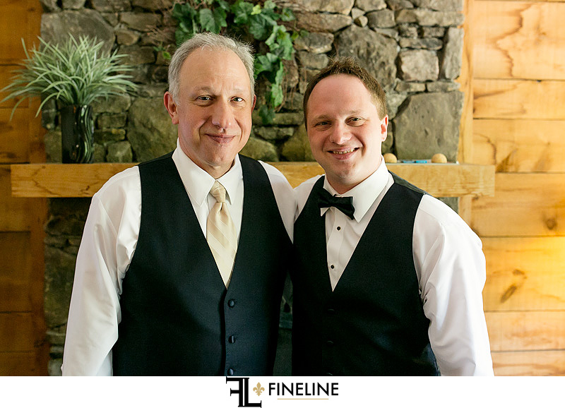 groom with father Photo by FINELINE Wedding Greensburg, PA