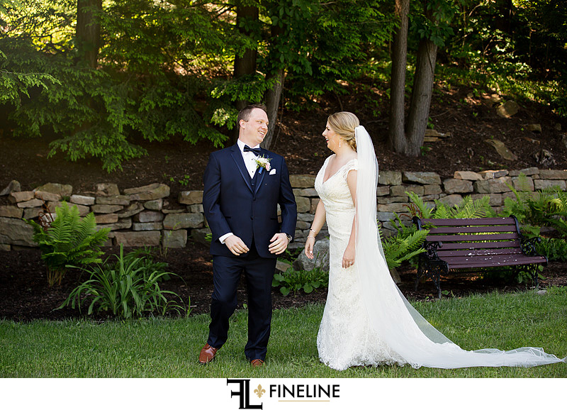 First Look Photo by FINELINE Wedding Greensburg, PA