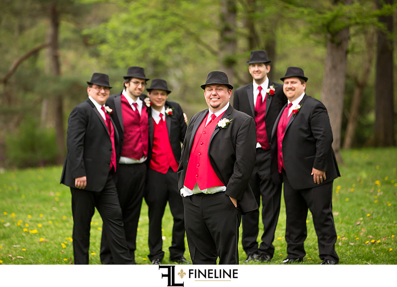 black and red wedding colors FINELINE weddings Greensburg PA