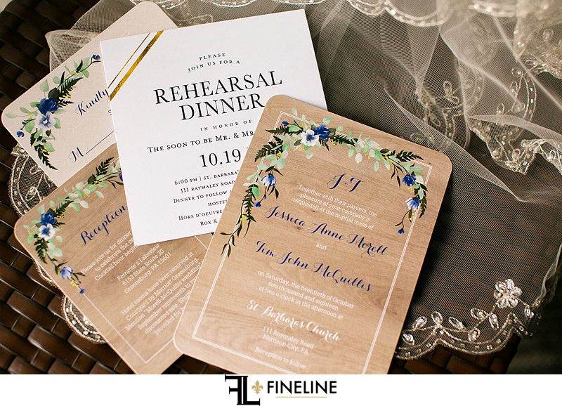 Wedding Invitations photo by FINELINE Weddings Greensburg, PA