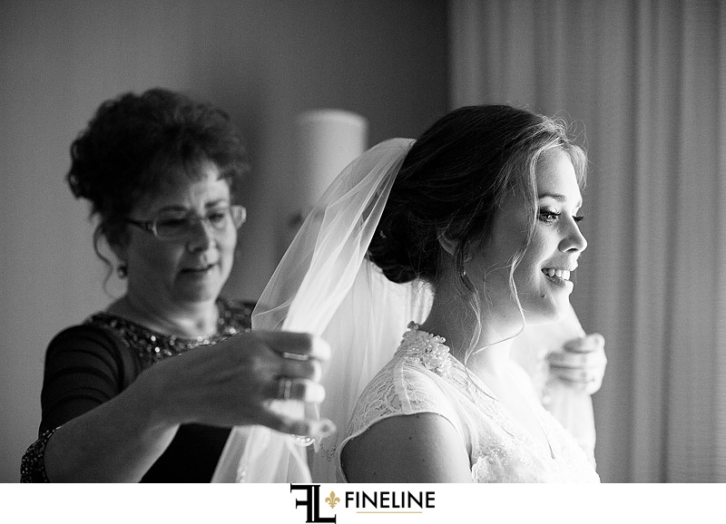 bride with mother photo by FINELINE Weddings Greensburg, PA