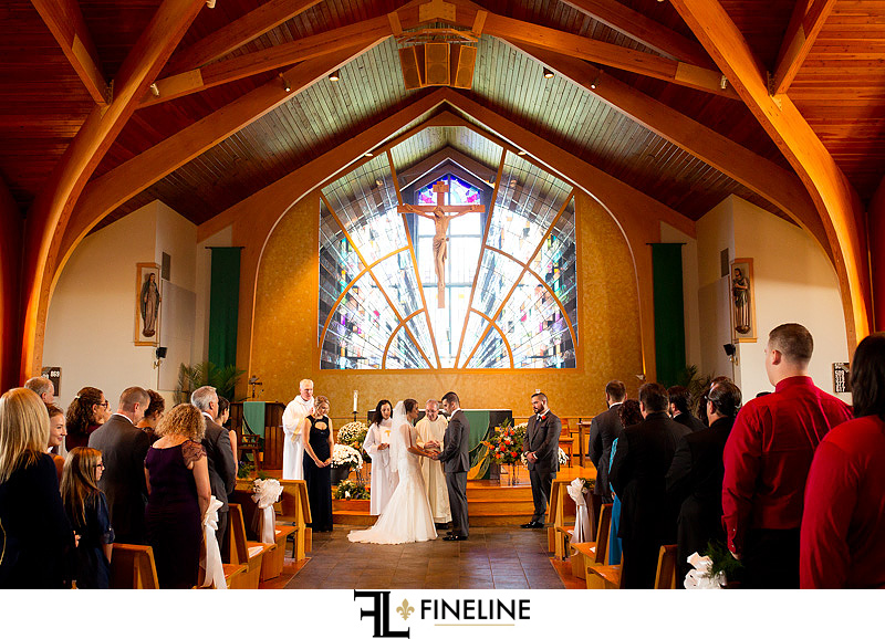 St Barbara Catholic Church Wedding Ceremony photo by FINELINE Weddings