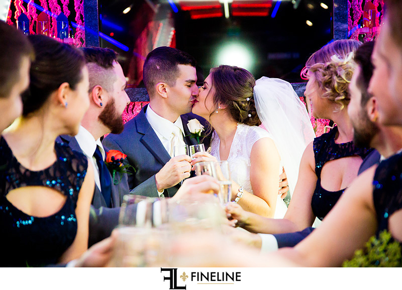 Party bus photo by FINELINE Weddings