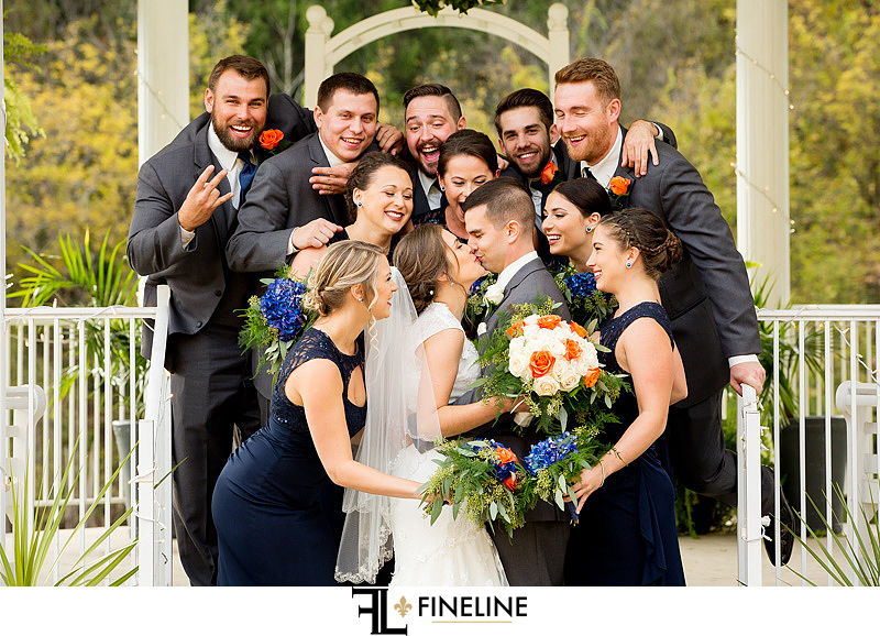 bridal party photo by FINELINE Weddings