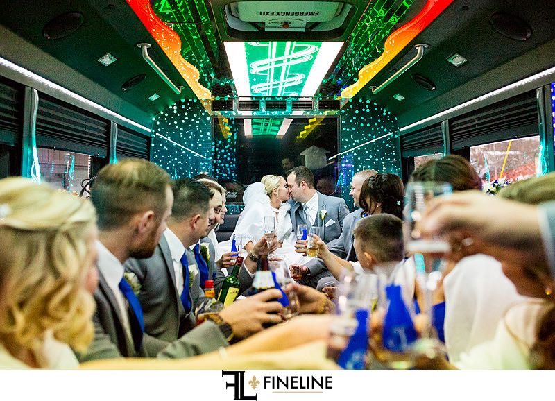 Party bus for wedding