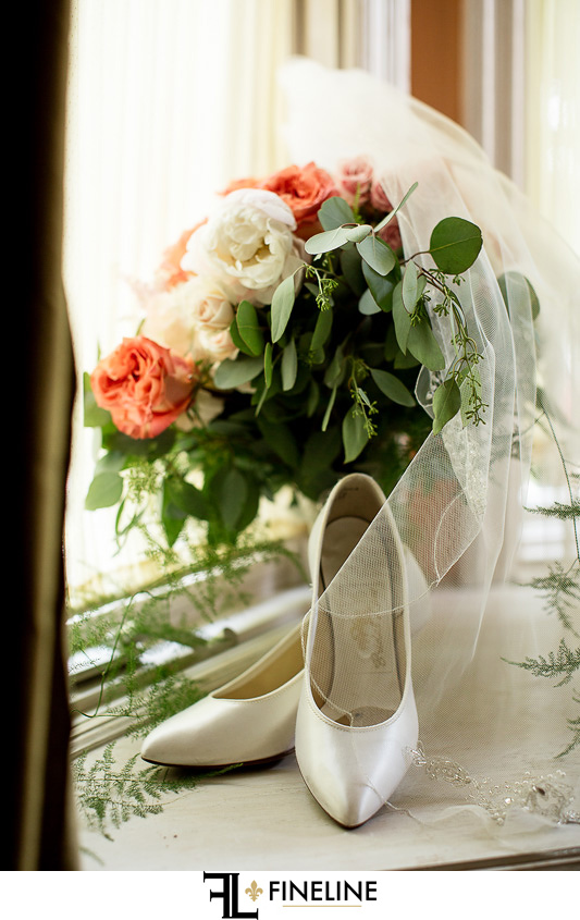 flowers and shoes photo by FINELINE Weddings Greensburg, PA