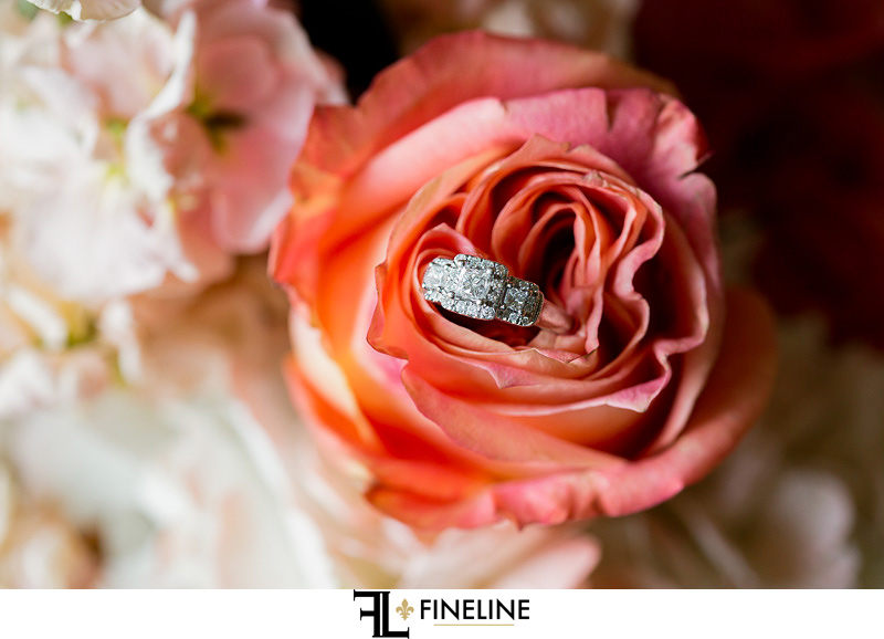 ring in flower photo by FINELINE Weddings Greensburg, PA