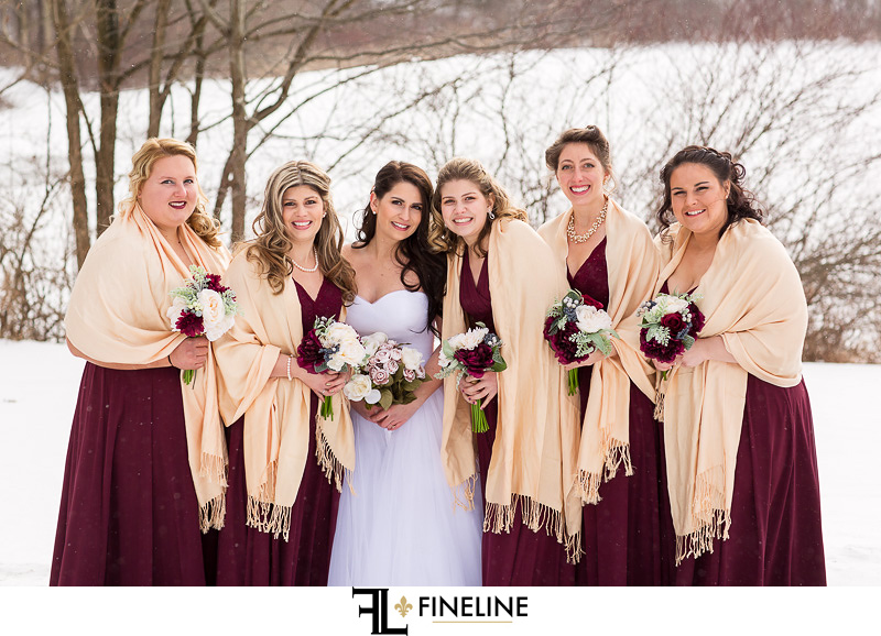 wine and tan wedding colors