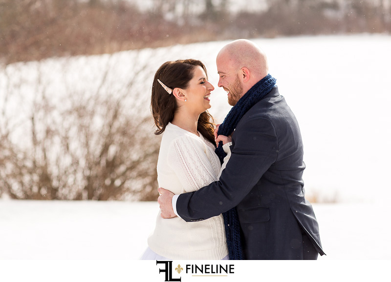 sweater and jacket for wedding photos
