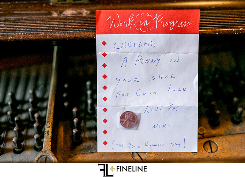 penny for your shoe on wedding day